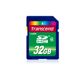 Карта памяти SDHC / Secure Digital High Capacity 32 Гб Transcend Сlass 4