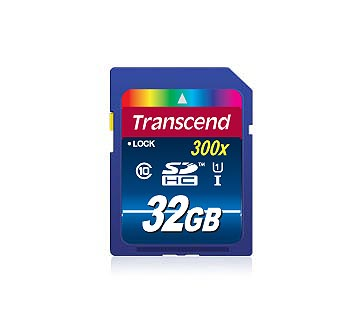 Карта памяти SDHC / Secure Digital High Capacity 32 Гб Transcend Сlass 10  UHS1 400x Premium