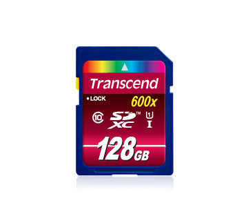 Карта памяти SDXC / Secure Digital eXtended Capacity 128 Гб Transcend Сlass 10  UHS-1