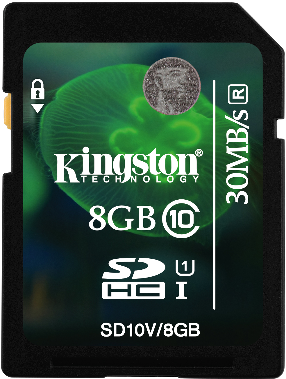 Карта памяти SDHC / Secure Digital High Capacity  8 Гб Kingston Сlass 10 UHS 1