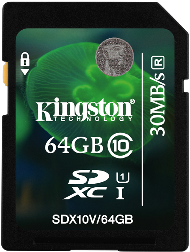 Карта памяти SDXC / Secure Digital eXtended Capacity 64 Гб Kingston Сlass 10 UHS-1