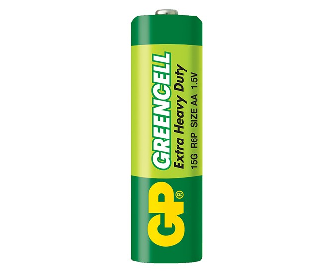 Батарейка солевая AA (R06) GP ''GreenCell''