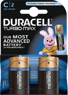 Батарейка щелочная C (LR14)  Duracell TURBO