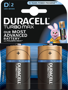 Батарейка щелочная D (LR20) DURACELL TURBO