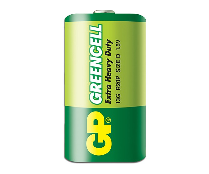 Батарейка солевая D (R20) GP ''GreenCell''