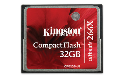Карта памяти CompactFlash 32.0 Гб, KINGSTON ULTIMATE 266x