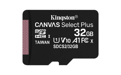 Карта памяти microSDHC 32 Гб KINGSTON Сlass 10 UHS 1 ''Canvas Select Plus'',  R100W10