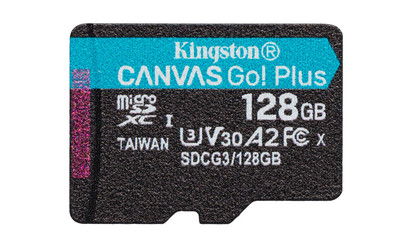 Карта памяти microSDXC 128 Гб KINGSTON Сlass 10 UHS 1, ''CANVAS Go! Plus''  R170W90 (A2 U3 V30)