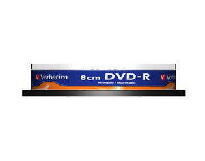 DVD-R мини (8 см) диск Verbatim printable 1.4 Gb, 4x , CakeBox