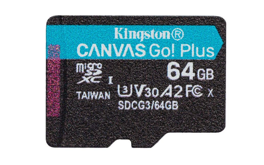Карта памяти microSDXC 64 Гб KINGSTON Сlass 10 UHS 1, ''CANVAS Go! Plus''  R170W70 (A2 U3 V30)