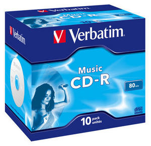 CD-R диск Verbatim 80 мин,''Audio'' Live It в коробке