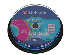 CD-R мини диск 210 Мб Verbatim, CakeBox