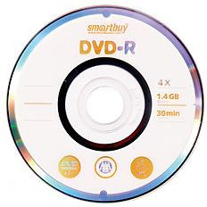 DVD-R мини диск SmartBuy 1.4 Gb, 4x , CakeBox