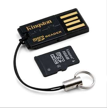 microSDHC 16 Gb Kingston Сlass 10+USB reader